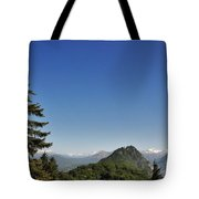Tree And A Panoramic View Tote Bag