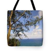 Tree And A Tropical Beach Tote Bag