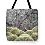 Tree And Barrel Cactus Tote Bag