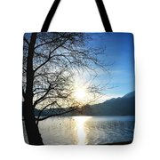 Tree And Lake Tote Bag