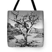 Tree At Cedar Ridge Bw Tote Bag