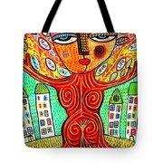 Tree Blessing Goddess Tote Bag