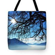 Tree Branches And Sun Tote Bag