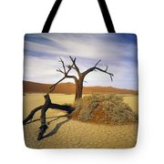 Tree In Desert Tote Bag