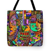 Tree Of Life Tribal Spirts Tote Bag