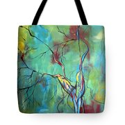 Tree Of Winding Color Tote Bag