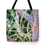 Tree On Fire Tote Bag