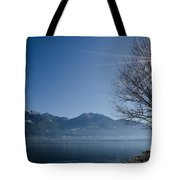 Tree On Lakefront Tote Bag