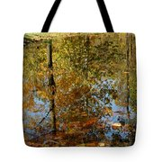 Tree River Reflections Tote Bag