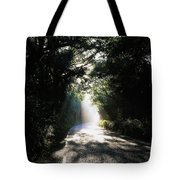 Treelined Road Tote Bag