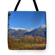Trees And Mountain Tote Bag