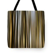 Trees In A Forest Blurred Tote Bag
