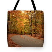 Trees Of Autumn - Holmdel Park Tote Bag by Angie Tirado