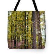 Trees Of Golden Hues Tote Bag