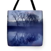 Trees On The Lake Front Tote Bag