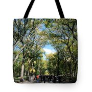 Trees On The Mall In Central Park Tote Bag