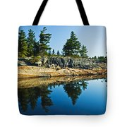 Trees Reflection In Water, Georgian Tote Bag