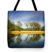 Trees Reflections On The Lake Tote Bag