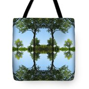 Trees Squared Tote Bag