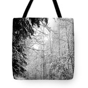 Trees Under The Snow Tote Bag