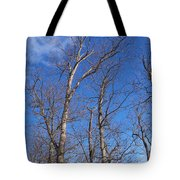Trees With Cotton Cloud Tote Bag