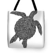 Tribal Turtle IIi Tote Bag by Carol Lynne