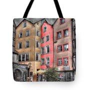 Tricolor Houses Tote Bag