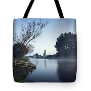 Trim Castle Along Banks Of The River Tote Bag
