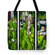 Triptych Of Water Hyacinth Tote Bag