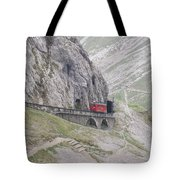 Trolley Ride Through A Tunnel Tote Bag