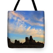Trona Pinnacles At Sunset Tote Bag