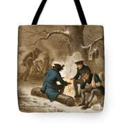 Troops At Valley Forge Tote Bag