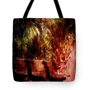 Tropical Bench Tote Bag