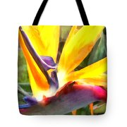 Tropical Bird Of Paradise Tote Bag