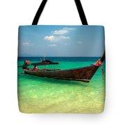 Tropical Boat Tote Bag