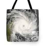 Tropical Cyclone Ivan Over Madagascar Tote Bag