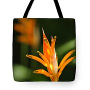 Tropical Orange Heliconia Flower Tote Bag