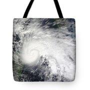 Tropical Storm Ida In The Caribbean Sea Tote Bag