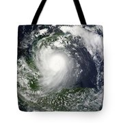 Tropical Storm Karl Over The Yucatan Tote Bag