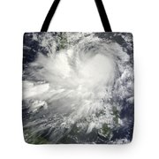 Tropical Storm Nock-ten Tote Bag