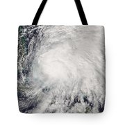 Tropical Storm Noel Over The Bahamas Tote Bag
