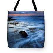 Tropical Sunrise Swirl Tote Bag