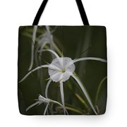 Tropical White Spider Lily Tote Bag