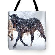 Trotting In The Snow Tote Bag