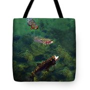 Trout Rising To Feed Tote Bag