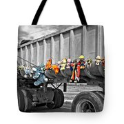Truck And Dolls With Selective Coloring Tote Bag