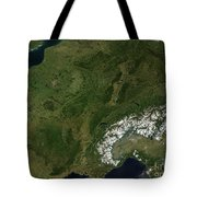 True-color Satellite View Of France Tote Bag