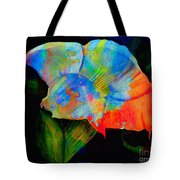 Trumpet With Watercolor Overlay Tote Bag