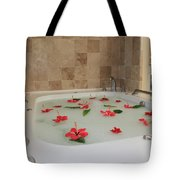 Tub Of Hibiscus Tote Bag