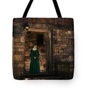 Tudor Lady In Doorway Tote Bag